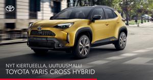 Uutuusmalli Yaris Cross yhdistää kompaktin hybridiauton ja katumaasturin parhaat puolet ainutlaatuisella tavalla. Tule itse tote...