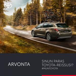 Matkasta voi tehdä ihanan auto, seura, kohde tai tunnelma. Mikä on ollut sinun paras Toyota-reissusi? Jaa #muntoyota-muistosi ko...