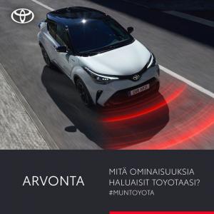 Kerro kommentissa, mitä ominaisuuksia haluaisit seuraavaan Toyotaasi! Toiveajattelu ja visiointikin on sallittu ;-)  Jaa #muntoy...