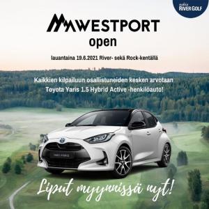 Kesän jännittävin kilpailu - Westport Open! 🔥Lauantaina 19.6. Nyt on hieno mahdollisuus voittaa Toyota Yaris 1.5 Hybrid Active -...