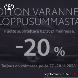 Black Friday tarjoukset valtaavat Toyota Tammer-Auton!
