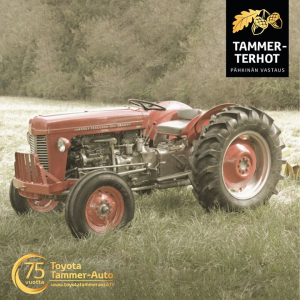Ensimmäinen Tammer-Terhot -kilpailu on saatu päätökseen ja oikealla vastauksella voittajaksi selviytyi Kirsi Hautala, onnea! 🤩 Kun Korpivaara Oy:n tytäryhtiö Tammer-Auto Oy perustettiin vuonna 1945, siellä ei vielä myyty Toyotaa – vaan Ferguson traktoreita! 🚜