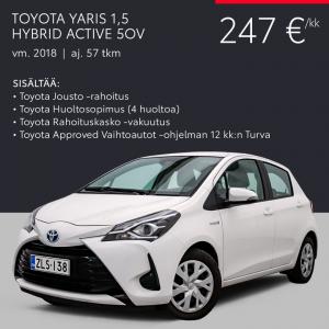Laajasta valikoimastamme löydät juuri sinulle sopivan Toyota-vaihtoauton, ja helpoin tapa hankkia se on Kaiken kattava kuukausie...