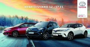 Hybridiviikolla 12.-17.11. Suomen suosituin hybridimallisto nyt erikoiseduin: Auris- ja RAV4 -malleihin metalliväri 0 € ja Winter Pack -varustepaketti alkaen 490 €. Sisältää mm. talvirenkaat kevytmetallivantein. Kokonaisetusi on jopa 6600 €. Tervetuloa koeajamaan itselataavat hybridit ja hyödyntämään tarjoukset meillä! https://www.toyotatammerauto.fi/yritys/ajankohtaista/toyota-hybridiviikko.html