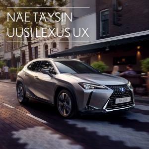Täysin uusi Lexus UX tällä viikolla nähtävillä Tammer-Autossa! Rohkea, tyylikäs ja dynaaminen Lexus UX haastaa kaiken entisen. Tule katsomaan, miltä crossoverin uusi tulevaisuus näyttää!