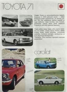 48 vuotta sitten vuonna 1971 Toyota oli rekisteröintitilastojen huipulla ja tarjosi asiakkailleen korkeaa laatua, hyvää varustelua, miellyttävää muotoilua, parempia suoritusarvoja ja hyvin järjestettyä huoltopalvelua. Nyt 48 vuotta myöhemmin Toyota jatkaa markkinajohtajana ja tarjoaa asiakkailleen kaikkea sitä mitä aiemminkin ja vielä paljon enemmän. Auton omistajalle laatu merkitsee sitä, että auto on luotettava ja toimintavarma. Laatu tarkoittaa myös turvallisuutta, alhaisempia huoltokustannuksia ja parempaa jälleenmyyntiarvoa. Ominaisuuksia, joista juuri Toyota tunnetaan. Korkea laatu on Toyotan toimintatavan tärkein arvo ja päämäärä. #toyota #tammerauto #laatu
