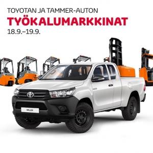 Tammer-Auto yhdessä Toyota Material Handlingin kanssa järjestää käytettyjen trukkien ja Toyota-hyötyajoneuvojen markkinapäivän Toyota Tammer-Auton tiloissa 18.9.-19.9. Tarjolla on herkullista pikkupurtavaa, valikoima kunnostettuja käytettyjä trukkeja heti toimitukseen sekä Toyotan hyötyajoneuvot Proace ja Hilux. Osallistumalla tilaisuuteen saat myös käyttöösi syksyn huippuedut. Tervetuloa! https://www.toyotatammerauto.fi/yritys/ajankohtaista/toyotan-ja-tammer-auton-tyokalumarkkinat.html